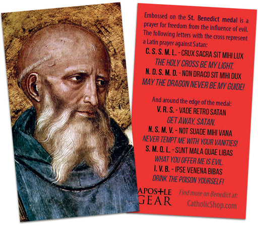 St. Benedict Holy Cards - 25-pack