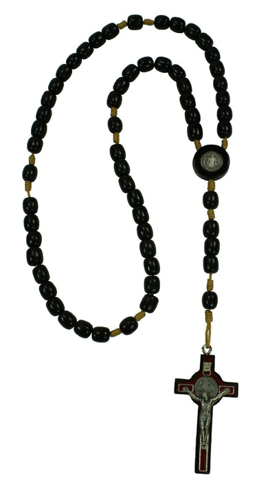 Saint Benedict Rosary - Black Wood