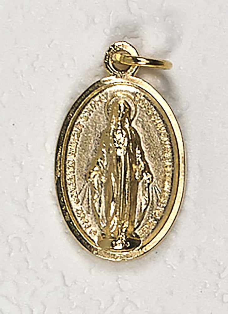 Gold Tone Miraculous Medal