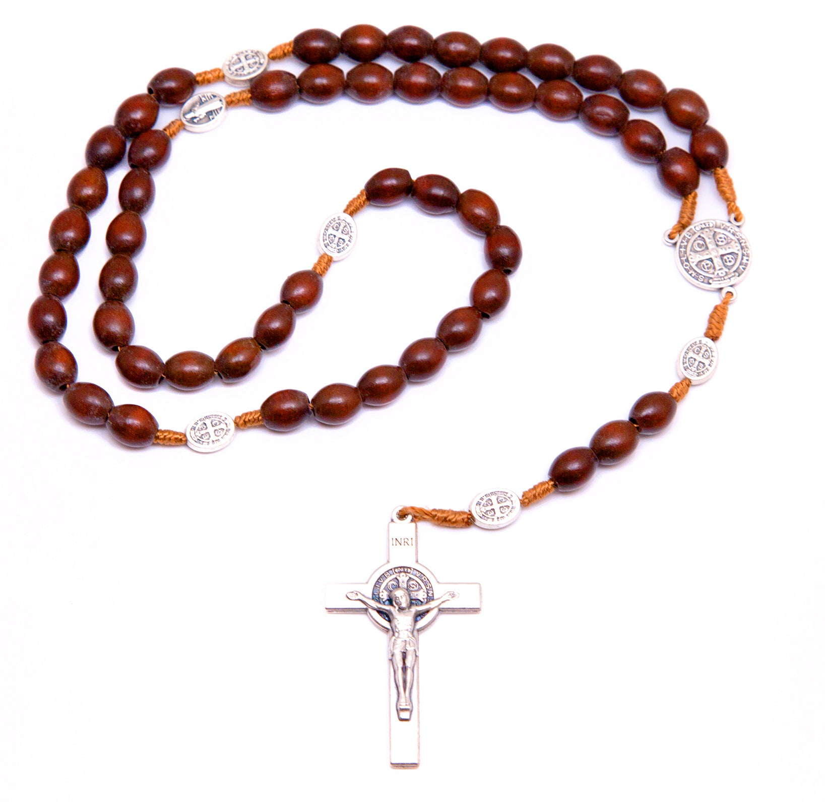Light Brown St. Benedict Rosary