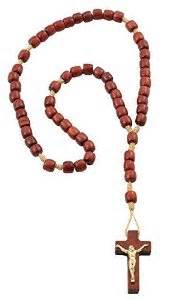 Small Cherry Wood Rosary
