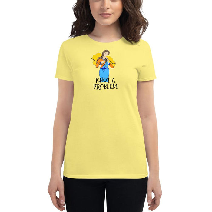 Knot A Problem Women's T-shirt with Our Lady Undoer of Knots
