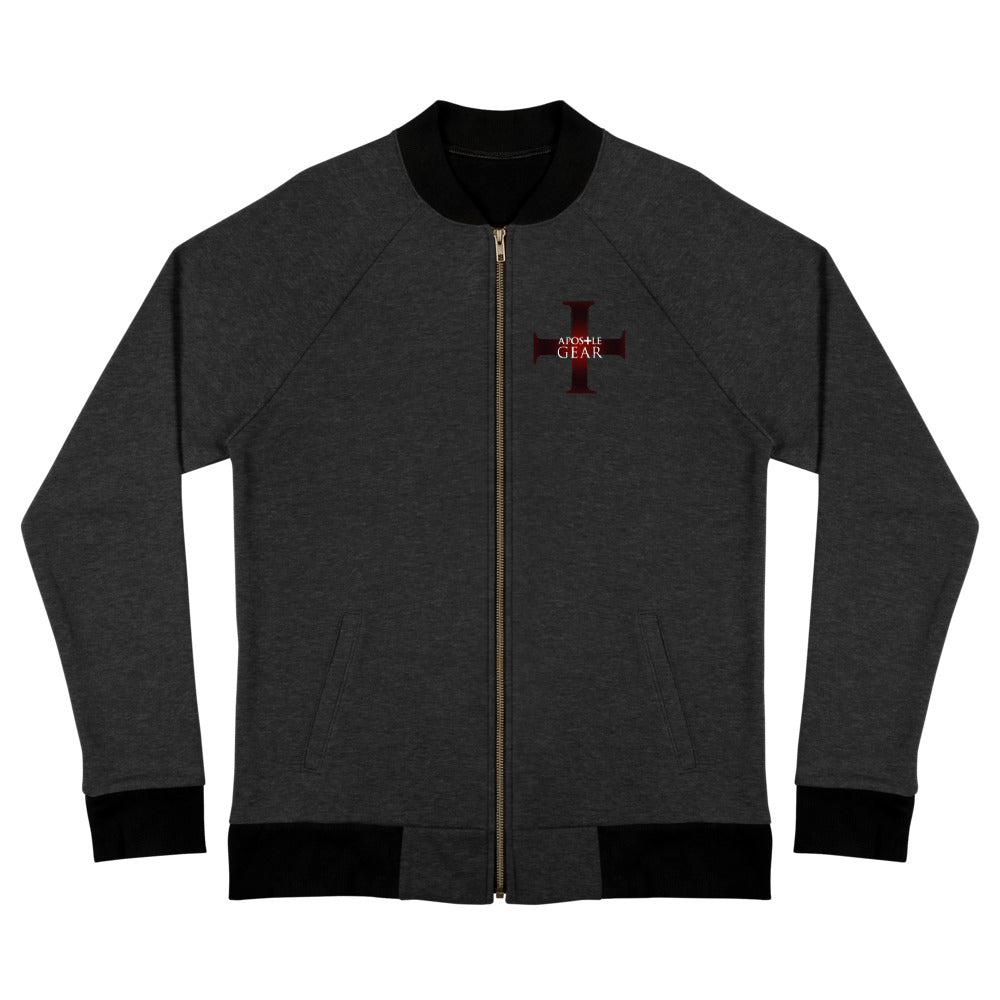 Apostle Gear Maroon Cross Bomber Jacket for Men and Women
