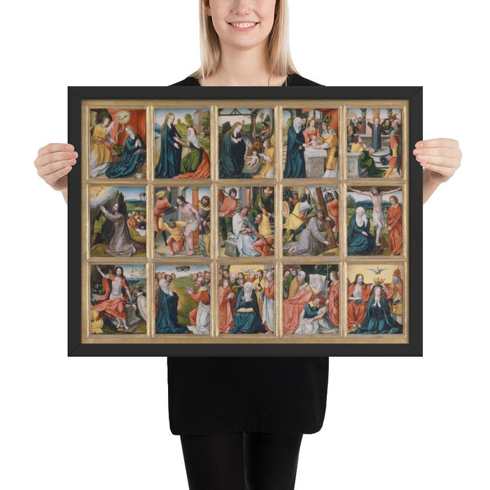 15 Mysteries of the Rosary Wall Art