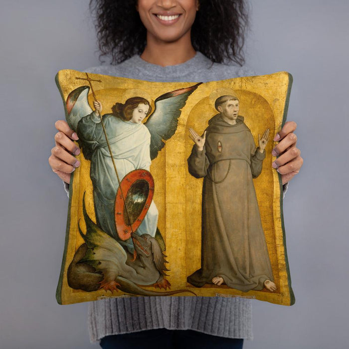 Saints Francis and Michael Pillow