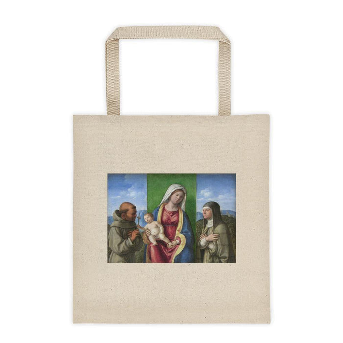 Madonna, Child, and Friends Tote bag