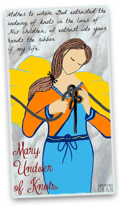 Our Lady Undoer of Knots Stickers - 5-Pack