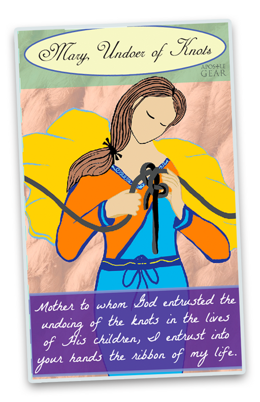 Our Lady Undoer of Knots Large Stickers - 5-Pack