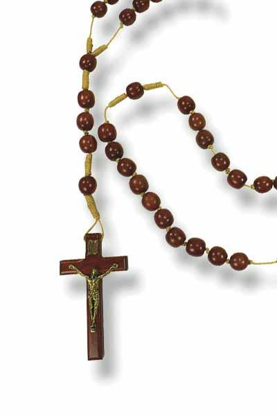 Wooden Wall Rosary - 39 inches