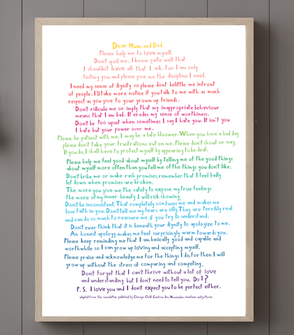 MEMO FROM YOUR CHILD POSTER downloads