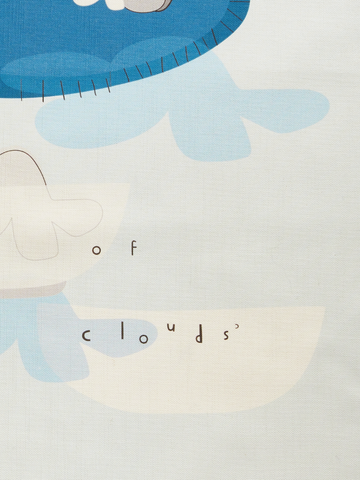 "ART TEA-TOWEL ""a souffle of clouds"""