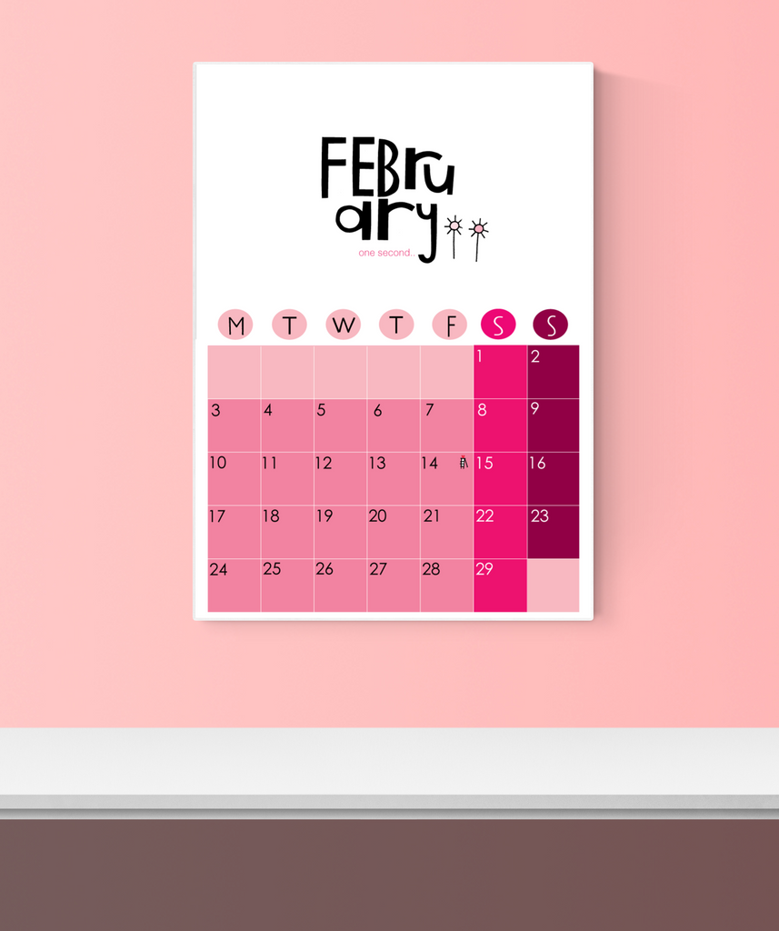 2020 Wall Calendar Pink DIGITAL Download
