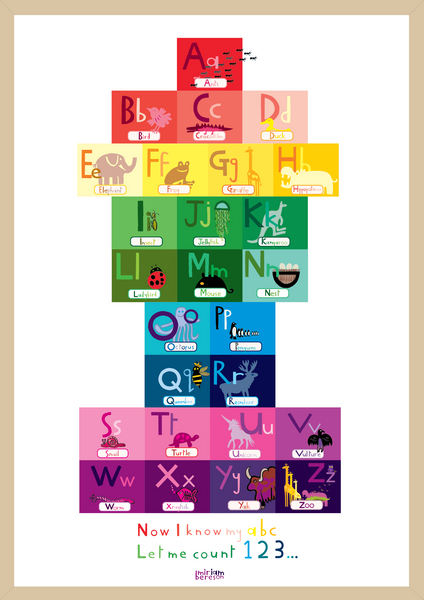 ALPHABET UPPER and LOWER poster                             PDF DIGITAL download