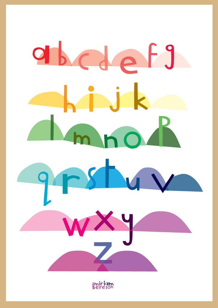 ALPHABET lowercase poster
