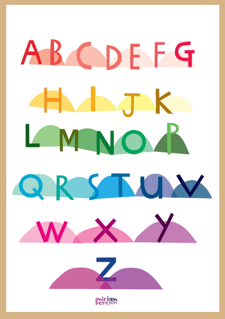 ALPHABET UPPERCASE poster            PDF DIGITAL download