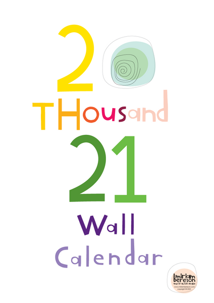 2021 Wall Calendar Rainbow DIGITAL Download