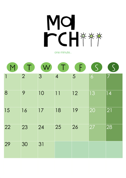 2021 Wall Calendar Green DIGITAL Download