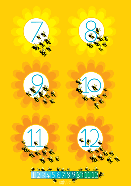 COUNTING 1-12 BEES BATH