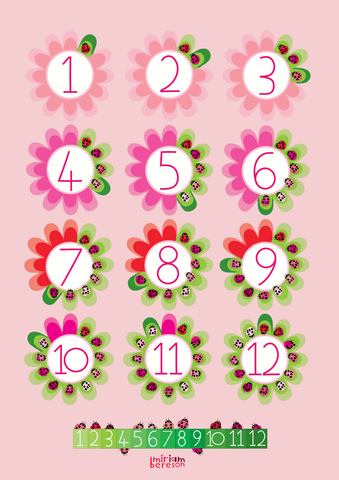 COUNTING to TWELVE LADYBIRD poster        PDF DIGITAL download