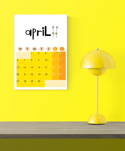 2020 Wall Calendar Yellow DIGITAL download