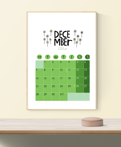 2020 Wall Calendar Green DIGITAL Download