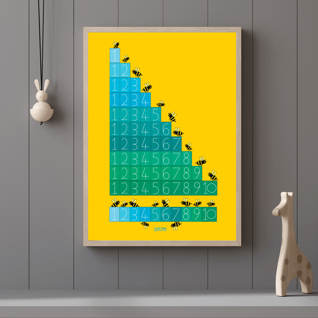 COUNTING to TEN BEES posters        PDF DIGITAL download