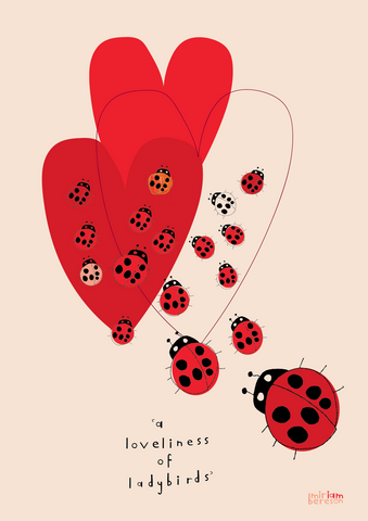 a LOVELINESS of LADYBIRDS poster                   PDF DIGITAL download