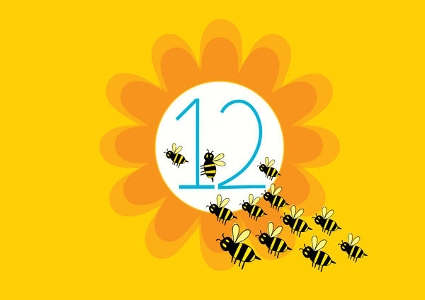 COUNTING to 12 bees