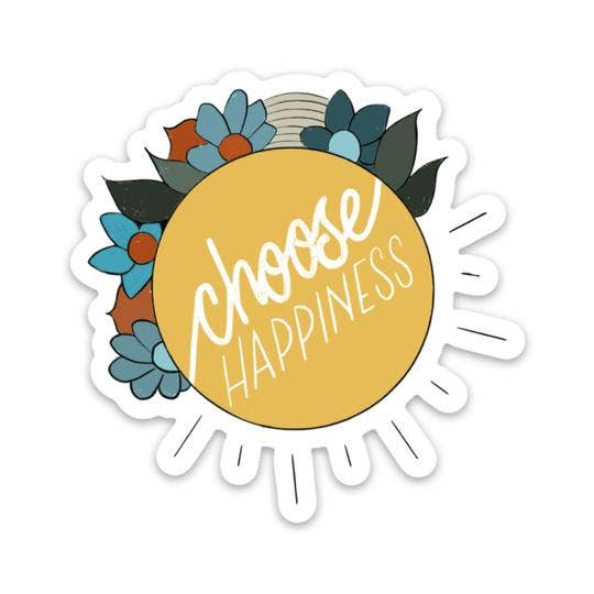 Choose Happiness Flower Sticker