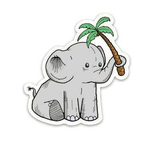 Elephant Positive Perspective Sticker