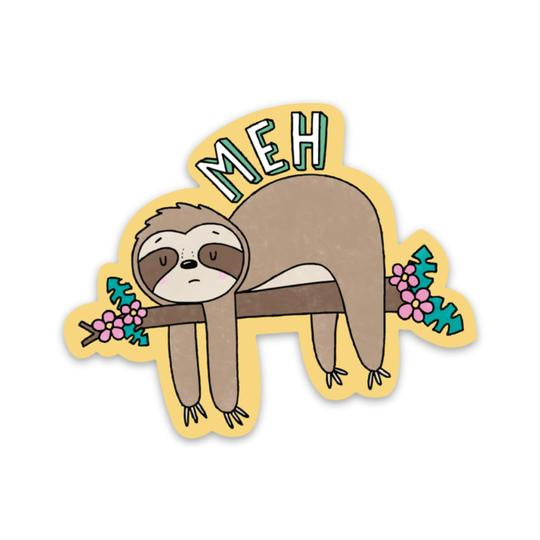 Meh Sloth Sticker