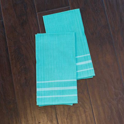 Aqua Kitchen Towels