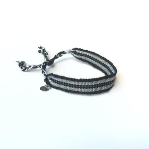 Black and Silver Rally Bracelet