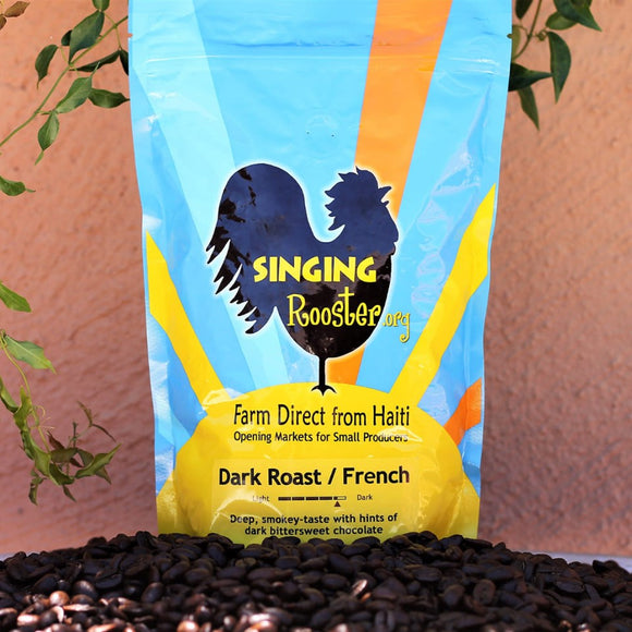 Singing Rooster French Roast Haitian Coffee