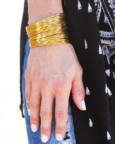 Gold Warrior Cuff