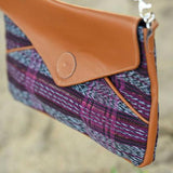 Messenger Bag/ Cossbody Clutch Purse - Purple
