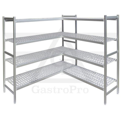 Aluminium shelves for cold rooms
