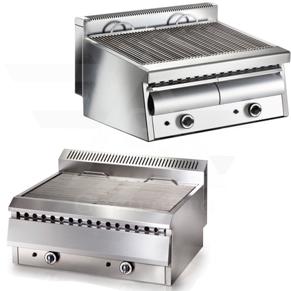 Professional Water Grills with Gas Burners