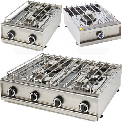 Gas cooktops, ranges and stoves.