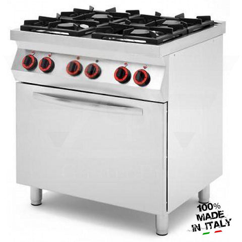 4 Burners Gas Range with Ventilated Electric Oven mod. CPG874F
