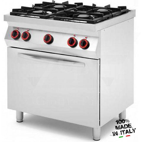 4 Burners Gas Range with Static Gas Oven and Gas Grill mod. CPG874GG