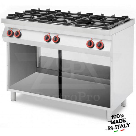 6 Burners Gas Hob on Open Compartment mod. CPG1276