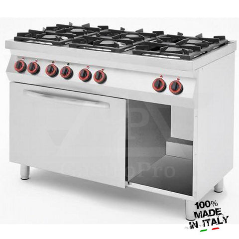 6 Burners Gas Stove with Ventilated Electric Oven mod. CPG1276F