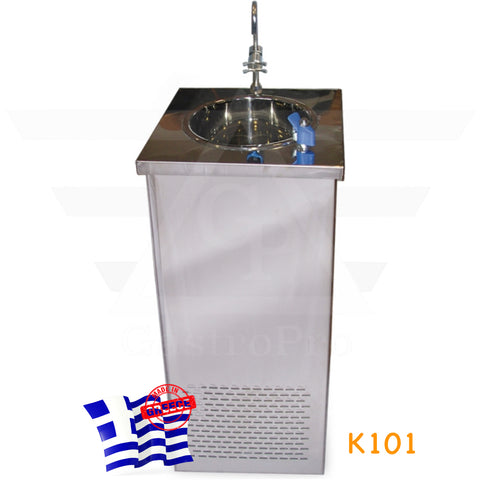Water Cooler Fountain with deep stainless steel sink for 250 cups/hour mod.K101