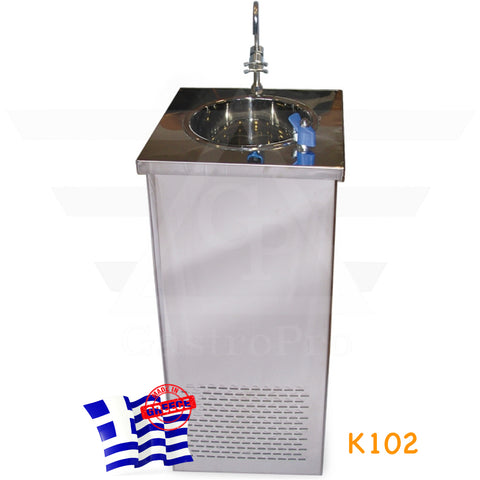 Water Cooler Fountain with deep stainless steel sink for 300 cups/hour mod.K102
