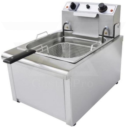 Electric Deep Fryer model F700-relay (8Lt-10Lt) 230V open lid