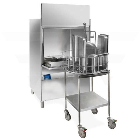 Pot Warewashing machine with Service Trolley