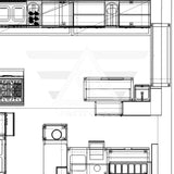 Part of restaurant floor plan