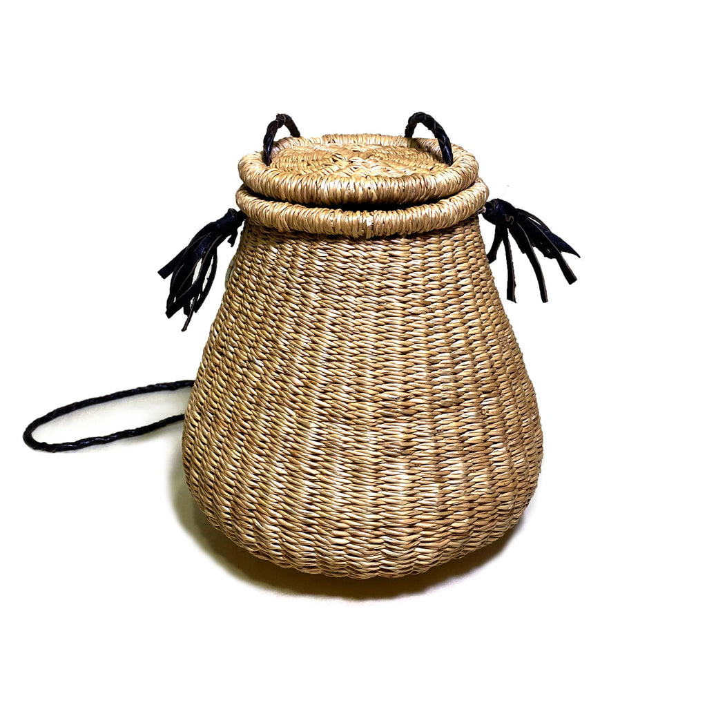 Ghana-Made Straw Handbag (Tan)