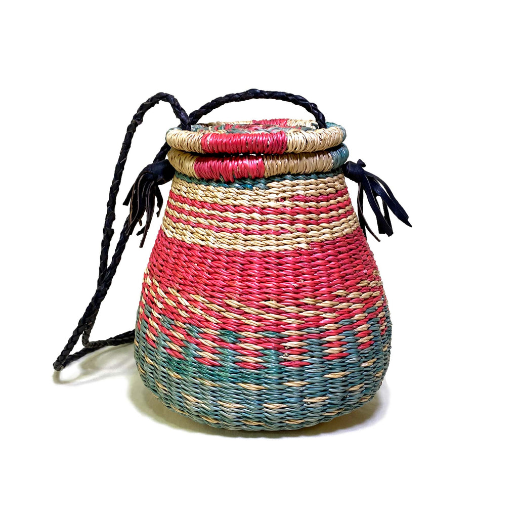 Ghana-Made Straw Handbag (Multi-colored)